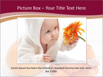 Child in pumpkin suit PowerPoint Templates - Slide 16