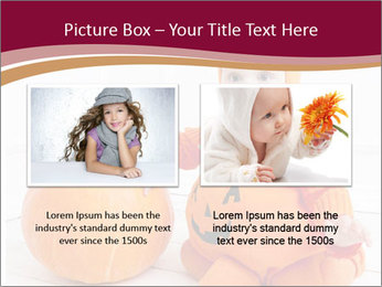 Child in pumpkin suit PowerPoint Template - Slide 18