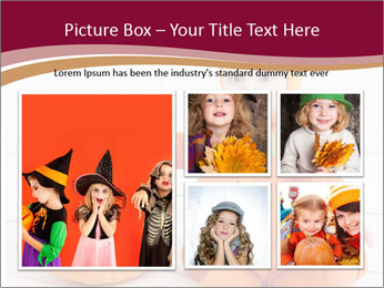 Child in pumpkin suit PowerPoint Template - Slide 19