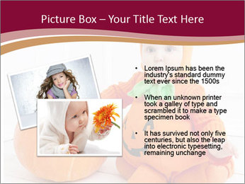 Child in pumpkin suit PowerPoint Templates - Slide 20