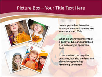 Child in pumpkin suit PowerPoint Template - Slide 23