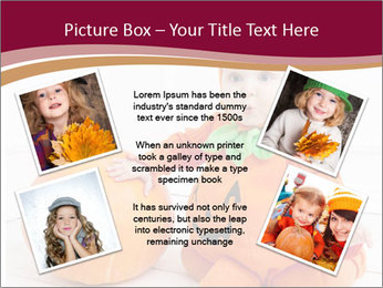 Child in pumpkin suit PowerPoint Template - Slide 24