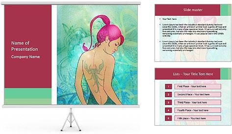 Illustration of scorpio zodiac PowerPoint Template