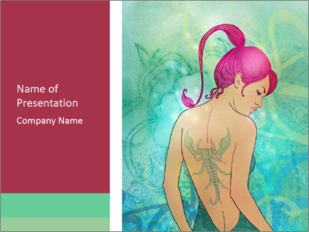 Illustration of scorpio zodiac PowerPoint Templates