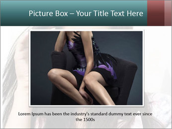 Young sexy brunette woman closeup portrait PowerPoint Template - Slide 16