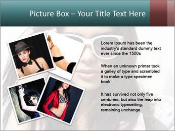 Young sexy brunette woman closeup portrait PowerPoint Template - Slide 23