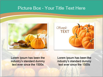 Assorted pumpkins and squashes on rustic wooden PowerPoint Template - Slide 18