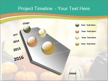 Assorted pumpkins and squashes on rustic wooden PowerPoint Templates - Slide 26