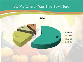 Assorted pumpkins and squashes on rustic wooden PowerPoint Templates - Slide 35