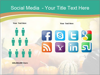 Assorted pumpkins and squashes on rustic wooden PowerPoint Templates - Slide 5