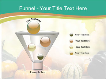 Assorted pumpkins and squashes on rustic wooden PowerPoint Templates - Slide 63