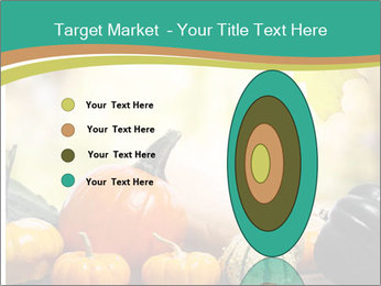 Assorted pumpkins and squashes on rustic wooden PowerPoint Template - Slide 84