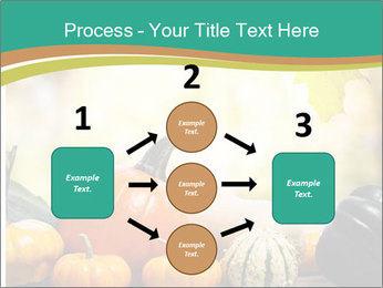 Assorted pumpkins and squashes on rustic wooden PowerPoint Template - Slide 92