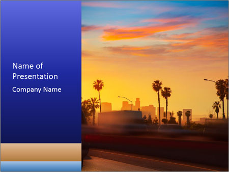 California from freeway PowerPoint Templates