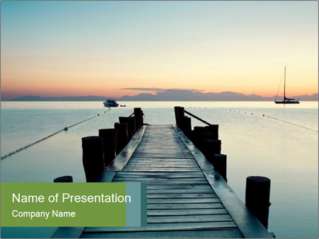Naples in summer morning PowerPoint Templates