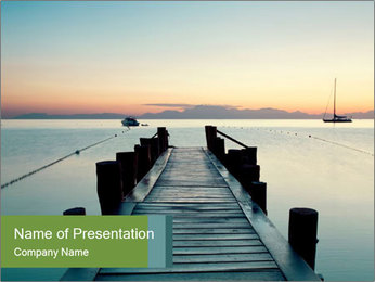 Naples in summer morning PowerPoint Template