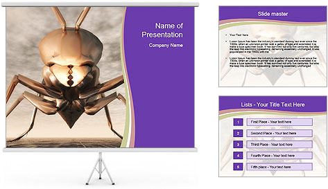 Illustration of a Wasp PowerPoint Template