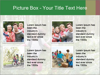 Group Hiking In Woods Together PowerPoint Templates - Slide 14