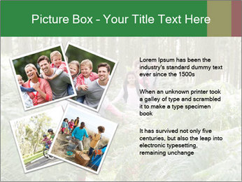 Group Hiking In Woods Together PowerPoint Templates - Slide 23