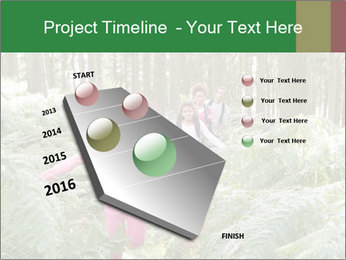 Group Hiking In Woods Together PowerPoint Templates - Slide 26
