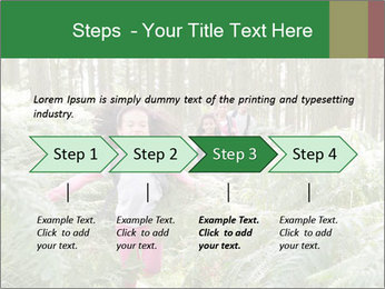 Group Hiking In Woods Together PowerPoint Templates - Slide 4