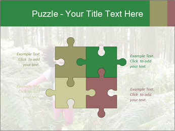 Group Hiking In Woods Together PowerPoint Templates - Slide 43