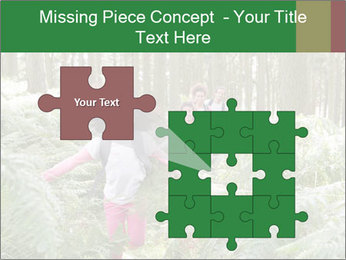 Group Hiking In Woods Together PowerPoint Templates - Slide 45