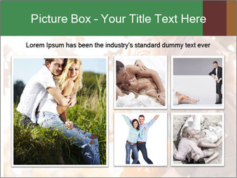 Couple in the autumn park PowerPoint Template - Slide 19