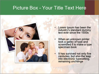Couple in the autumn park PowerPoint Template - Slide 20