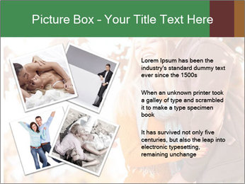 Couple in the autumn park PowerPoint Template - Slide 23