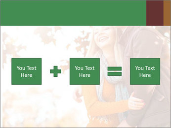 Couple in the autumn park PowerPoint Template - Slide 95