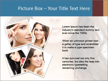 Portrait of beautiful young woman with long curly hair PowerPoint Template - Slide 23