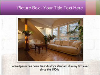 Decorative shelf on white brick wall PowerPoint Template - Slide 15