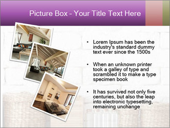 Decorative shelf on white brick wall PowerPoint Template - Slide 17