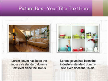 Decorative shelf on white brick wall PowerPoint Templates - Slide 18