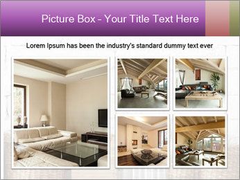 Decorative shelf on white brick wall PowerPoint Template - Slide 19