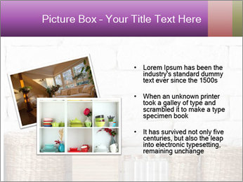 Decorative shelf on white brick wall PowerPoint Templates - Slide 20