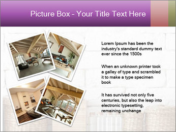 Decorative shelf on white brick wall PowerPoint Template - Slide 23