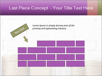 Decorative shelf on white brick wall PowerPoint Template - Slide 46