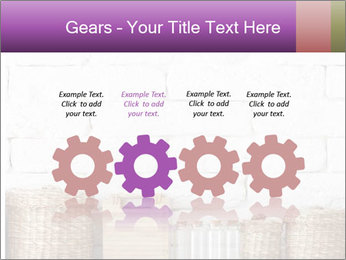 Decorative shelf on white brick wall PowerPoint Template - Slide 48