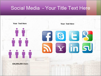 Decorative shelf on white brick wall PowerPoint Template - Slide 5