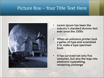 Crow sitting on a gravestone PowerPoint Templates - Slide 13