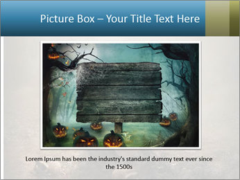 Crow sitting on a gravestone PowerPoint Templates - Slide 15