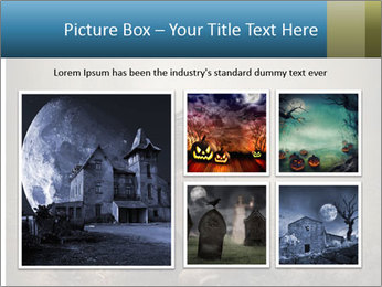 Crow sitting on a gravestone PowerPoint Template - Slide 19