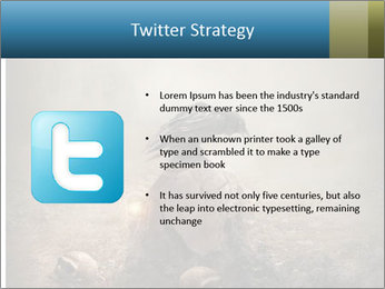 Crow sitting on a gravestone PowerPoint Template - Slide 9