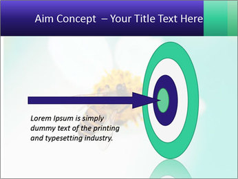 Bee on flower PowerPoint Template - Slide 83