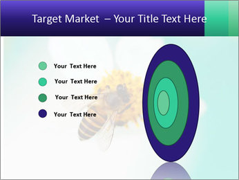 Bee on flower PowerPoint Template - Slide 84