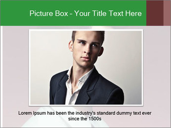 Portrait of handsome man with stylish PowerPoint Template - Slide 15