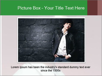 Portrait of handsome man with stylish PowerPoint Template - Slide 16