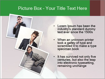 Portrait of handsome man with stylish PowerPoint Template - Slide 17